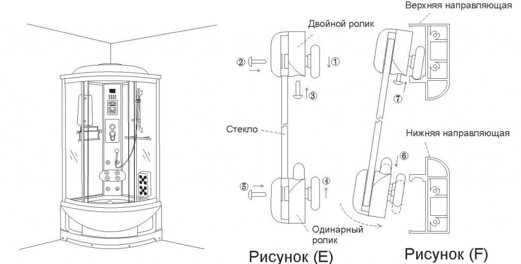 инструкция установка душевой кабины